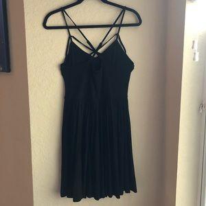 American Eagle Cross Strap Black Dress